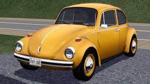 volkswagen bug yellow mod the sims 1973 volkswagen beetle