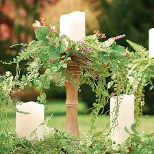 Candle Rings Set Of Five Garden Vine Candle Rings Grandin Road