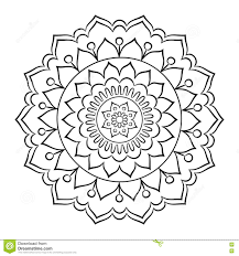 doodle mandala coloring page stock vector image 75413195