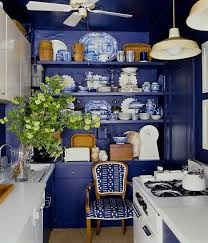cobalt blue kitchen home design interior blue pendant lamp shade