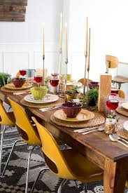 thanksgiving table with world market and friends just destiny