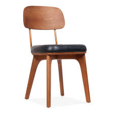Solid Wood Dining Chairs Winchester Upholstered Wooden Dining Chair In Black And Walnut Cult