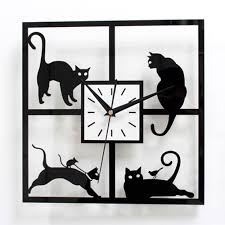 wall clocks canada home decor cute cat wall clock simple modern design living room clocks