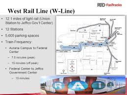 light rail schedule w line rtd fastracks overview colorail winter meeting ppt download