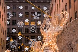 new york city manhattan rockefeller center christmas decorations