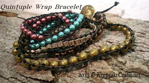 wrap bracelet with beads images Multi wrap beaded bracelet video tutorial jpg