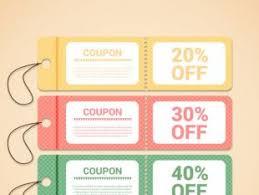 discount coupon templates free vectors ui download