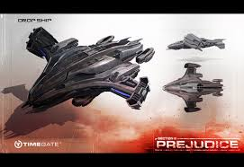 section 8 prejudice game wallpapers dropship warship variant aerial personnel carrier vessel concept