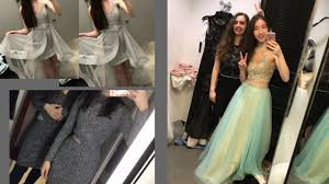 come prom dress shopping with me macy u0027s h u0026m and more junior
