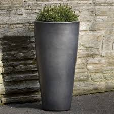 aluan tall round outdoor garden planter