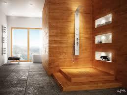 Stone Bathroom Ideas Natural Stone Bathroom Design Ideas Brown Mosaic Ceramic Floor