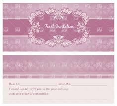ornate retro frame of leaves on violet pattern wedding