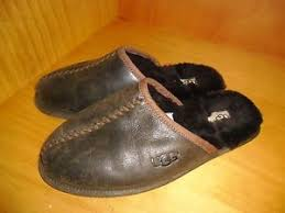 ugg slippers sale ebay ugg s scuff deco stout leather slippers size 9 ebay