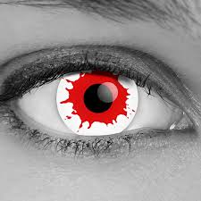 pair red vampire contact lenses corrective options fda cleared
