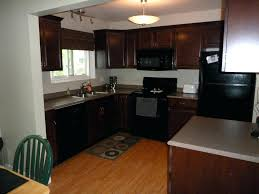 kitchen paint colors with oak cabinets and white appliances powder