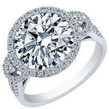 circle engagement ring with halo 2 00 carat brilliant cut halo engagement ring