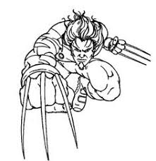 wolverine destroy evil robot coloring pages coloring pages
