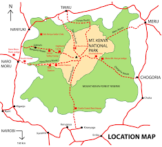 Kenya Map Africa by 5days Mt Kenya Sirimon Route Down Chogoria Route
