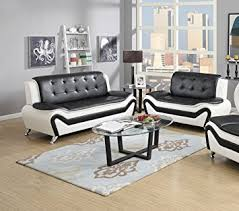 white livingroom furniture us pride furniture 2 modern bonded leather sofa