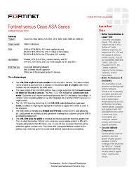 fortinet fortigate versus cisco asa 5500 sheet 022610 r1