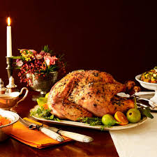 thanksgiving table with turkey last minute tips for a safe thanksgiving turkey caring strategies
