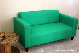 Ikea Sofa Chair by How To Easily Make Over A Sofa With Paint Happiness Is Homemade