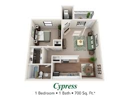 Princeton Housing Floor Plans by Jacksonville 1 Bedroom And 2 Bedroom Apartments The Grove