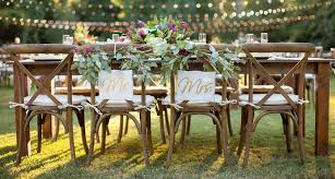 renting chairs for a wedding farm table rental by oconee events atlanta athens and lake oconee