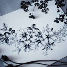 tattoo flower drawings these are lovely little flowers tattoos flowers pinterest
