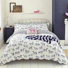 blue horse print double duvet cover joules bedding at bedeck 1951