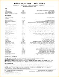 Resume Samples Basic by Cute Audition Resume Template Format Download Pdf Theatre