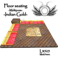 Gold Floor L Second Marketplace Indian Gold Floor Seating With Table
