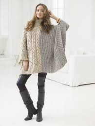 chatsworth cable poncho knit gratis patroon pinterest