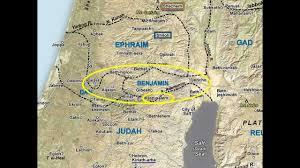 Atlas Map 04 Benjamin Region And Jerusalem Approaches Satellite Bible Atlas