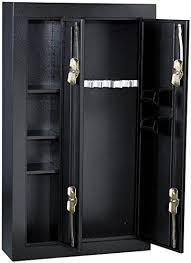 stack on double door gun cabinet amazon com homak hs30136028 8 gun double door security cabinet