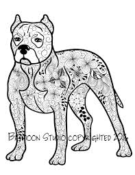 pit bull coloring page printable coloring pages by baymoonstudio