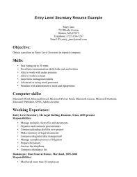 Administrative Secretary Resume Sample Resume For Secretary Cbshow Co