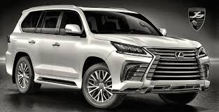 lexus new 2016 new body accents for lexus lx 570 2016 by larte design front view