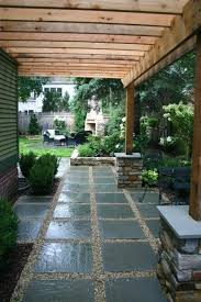 pea gravel and flagstone walkway gravel and paver patio diy image