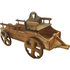 wooden truck toy vintage handmade wooden child u0027s toy wagon pull truck car by alan