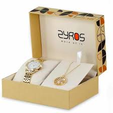 necklace set box images Zyros watch and a necklace set box for women sz2181gn0399 price jpg