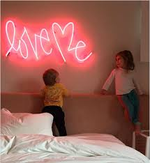 Neon Signs For Bedroom Kourtney Kardashian Posts U0027love Me U0027 Neon Sign Pic With Kids