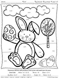 easter coloring pages numbers easter egg cellent equations math printables color by the code