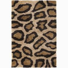 8 X 6 Rug Hand Woven Leopard Pattern Shag Rug 3 U00278 X 5 U00276 Free Shipping