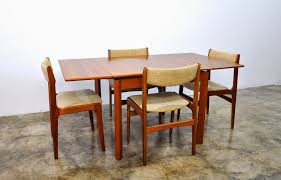 select modern danish modern teak expandable dining room table teak dining chairs available separately