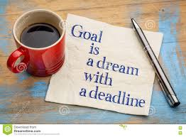 quote goals are dreams with deadlines goal is a dream with deadline stock image image 72449277