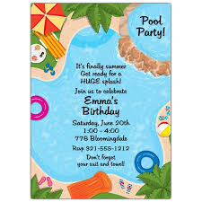 pool party invitations backyard pool party invitations paperstyle