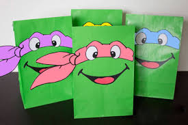 teenage mutant ninja turtles party favors invitations chica