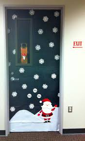 office 30 decorative door ideas christmas office reindeer