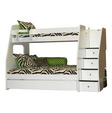 full over full bunk beds with stairs and trundle home design ideas